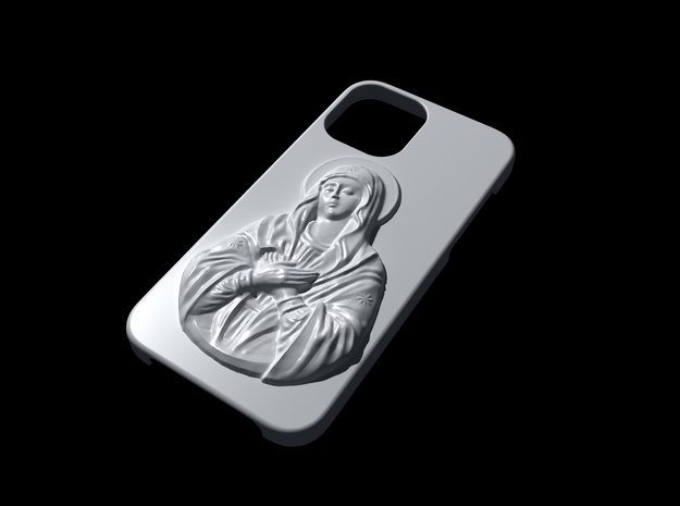 IPhone 12 Holy Mary Case in White Natural Versatile Plastic