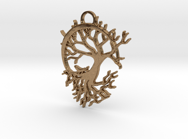 Howling Moon Pendant 3d printed