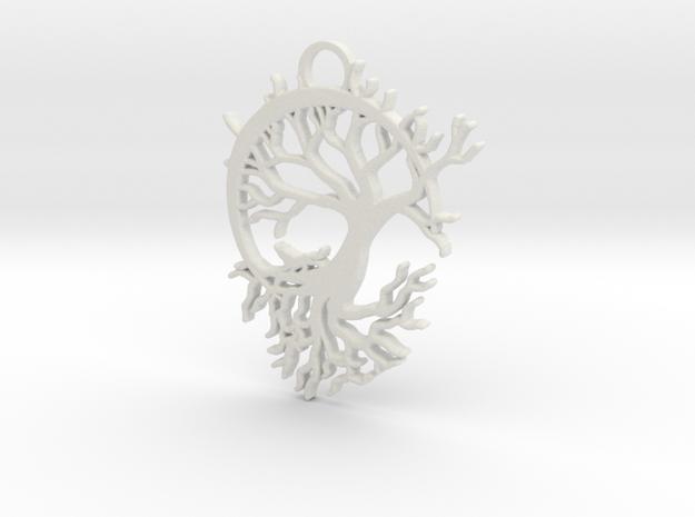 Howling Moon Pendant in White Natural Versatile Plastic