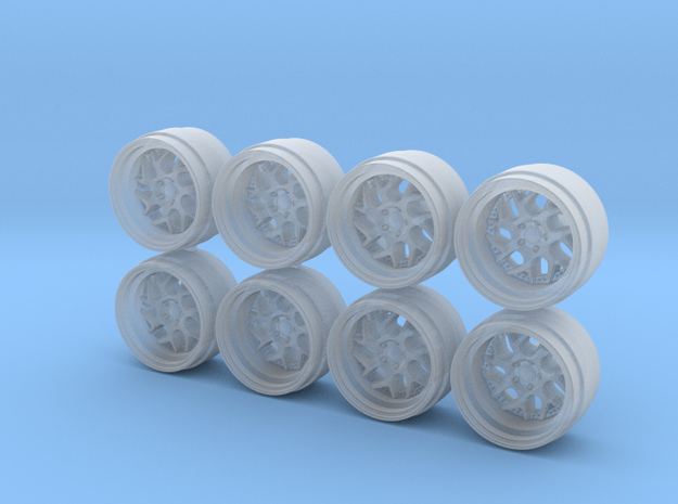DS-01 Hot Wheels Rims in Smooth Fine Detail Plastic
