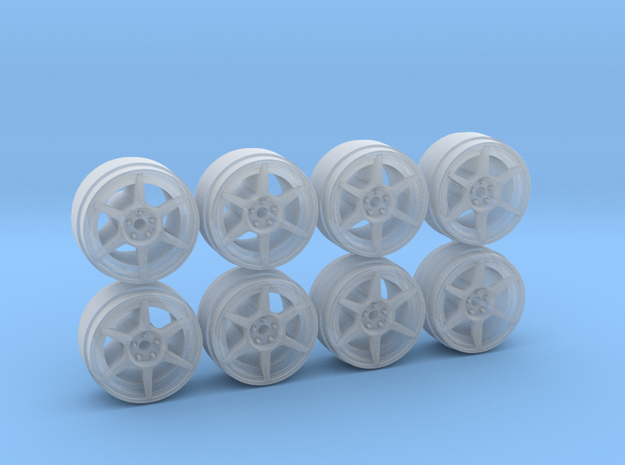 Buddy P1 8-2 Hot Wheels Rims in Smooth Fine Detail Plastic