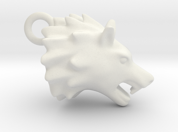Wolf head 2011191622 in White Natural Versatile Plastic