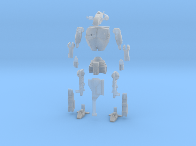 1-72 BattleMech Hatchetman In Parts 3d printed