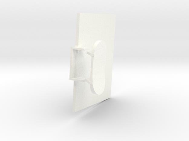 1.5 HUGHES 500D COCKPIT (C) in White Processed Versatile Plastic