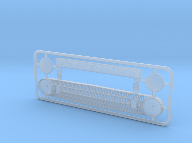 1/25 1961 Ford Falcon Grill with directionals in Smooth Fine Detail Plastic