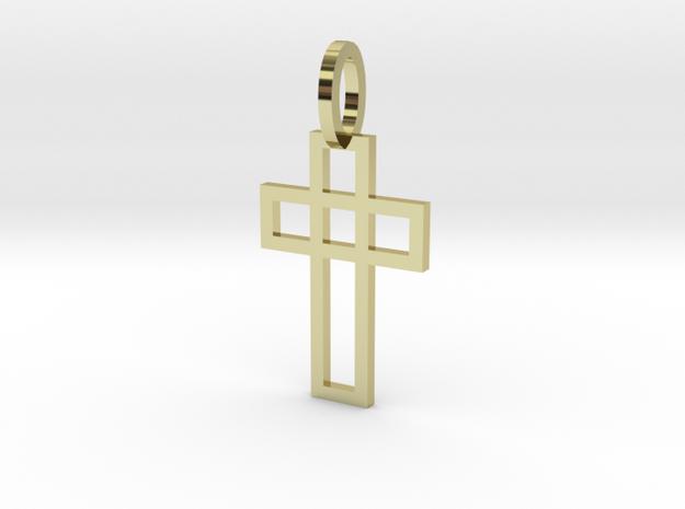 Cruz elegante Ouro 18K in 18k Gold