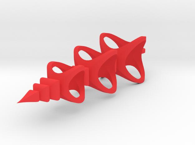 Triple Spheres scrollsaw icicle ornament in Red Processed Versatile Plastic: Medium