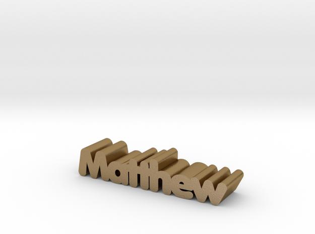 Matthew in Polished Gold Steel