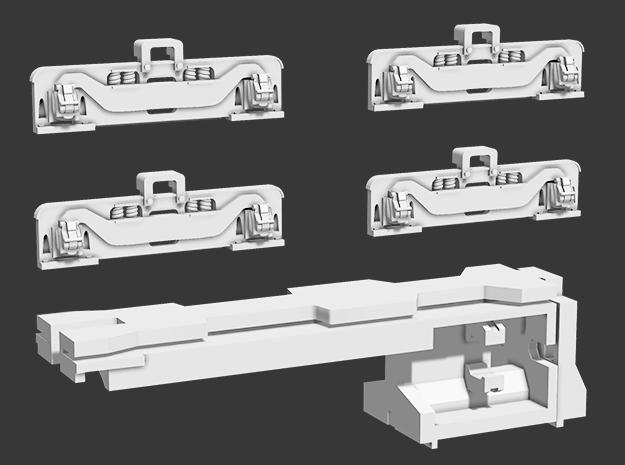 44 Tonner Trucks & Motor Clip in Smooth Fine Detail Plastic