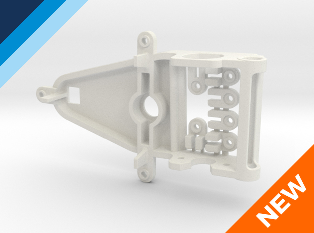 Sidewinder Small Can motor mount in White Natural Versatile Plastic