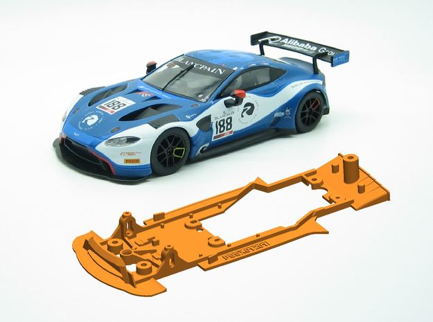 PSSX001201 Chassis Scalextric Aston Martin Van GT3 in White Natural Versatile Plastic