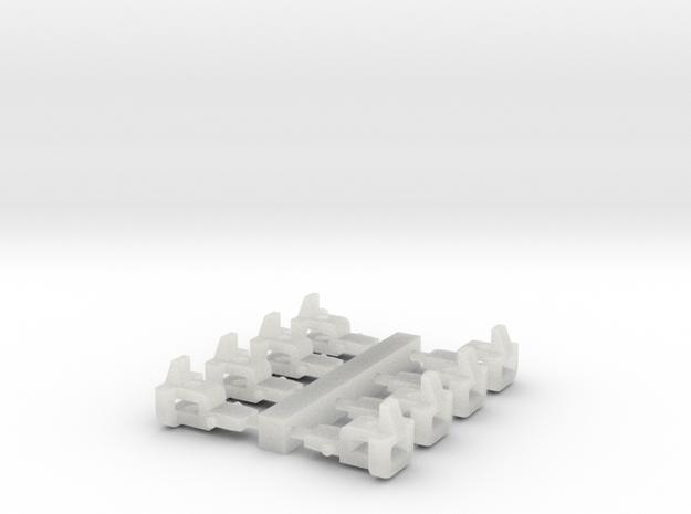 ZB (H0e) - Kurze Bosna-Kupplungen in Smooth Fine Detail Plastic
