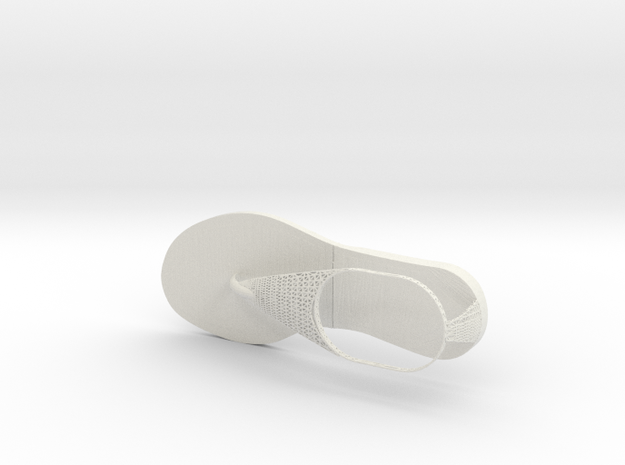 Sandle New 4 in White Strong & Flexible