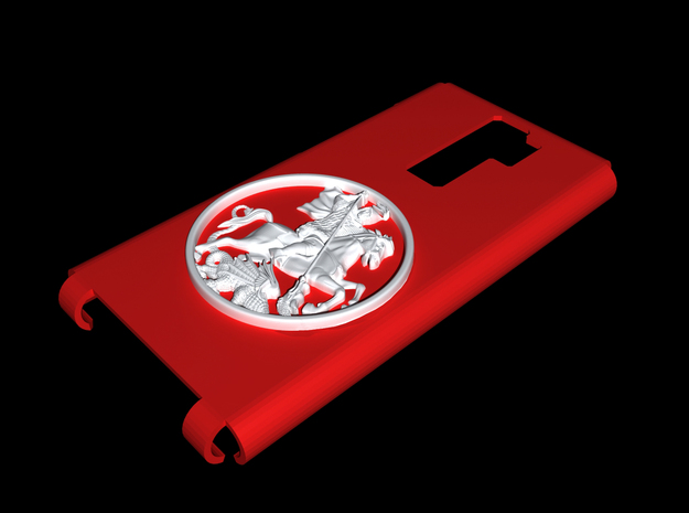 St.George and the Dragon Case in Red Processed Versatile Plastic