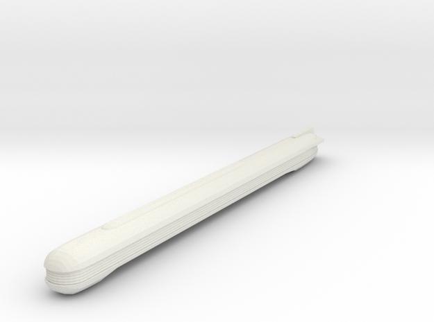 1/2500 Hutzel Class Nacelle (long) in White Natural Versatile Plastic