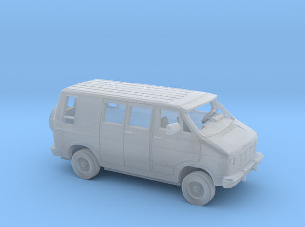 1/43 1980-90 Dodge Custom Van Kit in Smooth Fine Detail Plastic