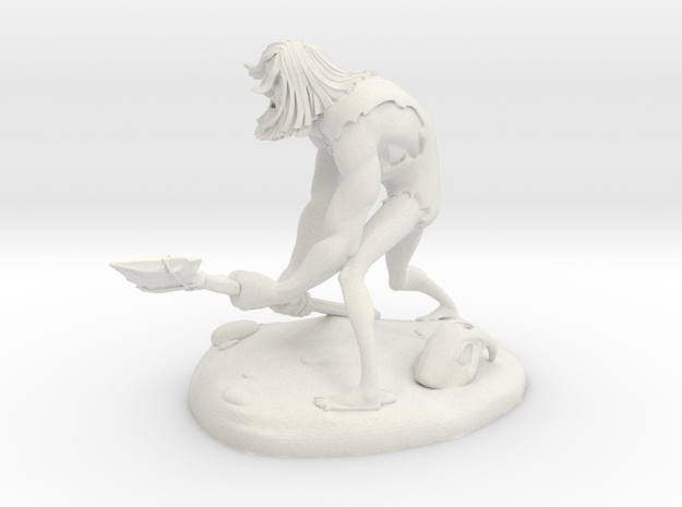 TheCaveman (Medium) in White Natural Versatile Plastic