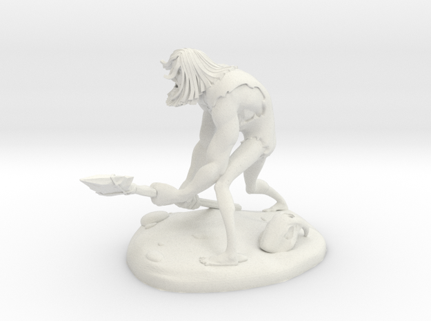 TheCaveman (Small) in White Strong & Flexible
