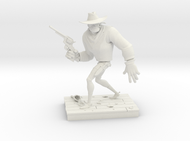 TheGunfighter (Small) in White Natural Versatile Plastic