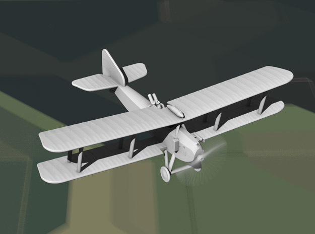Armstrong-Whitworth F.K.8 (late, multiscale) in Gray PA12: 1:144