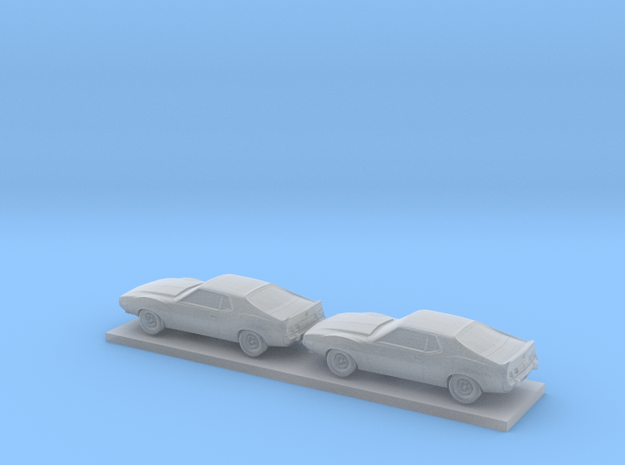 1/220 2X 1974 AMC Javelin AMX in Smooth Fine Detail Plastic