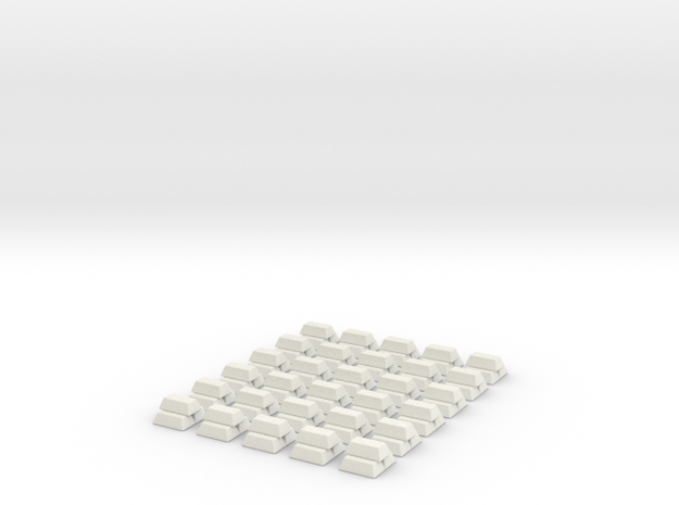Gold Replacements for Tzolk'in, Set of 30 3d printed Render in White Strong and Flexible