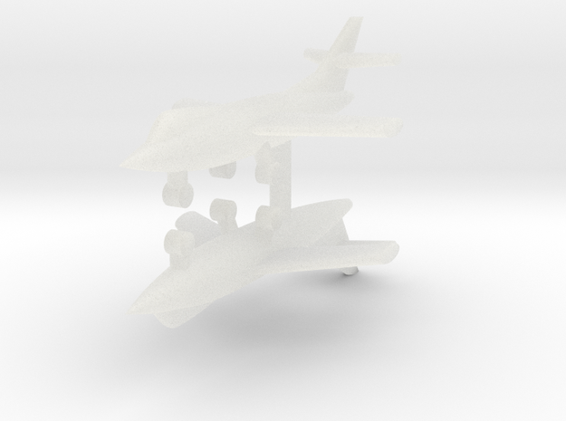 1/285 D-558-2 Skyrocket (x2) in Smooth Fine Detail Plastic