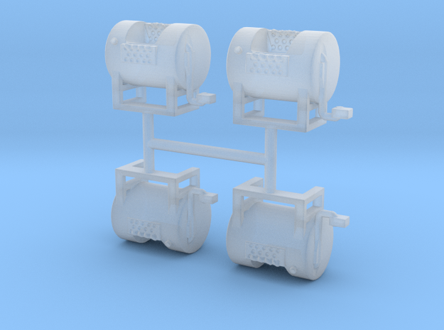 1/64th Mack type round fuel tanks in Smooth Fine Detail Plastic