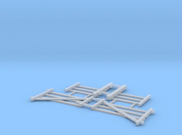 Double Wood Gate Assy - N Scale in Smooth Fine Detail Plastic: 1:160 - N