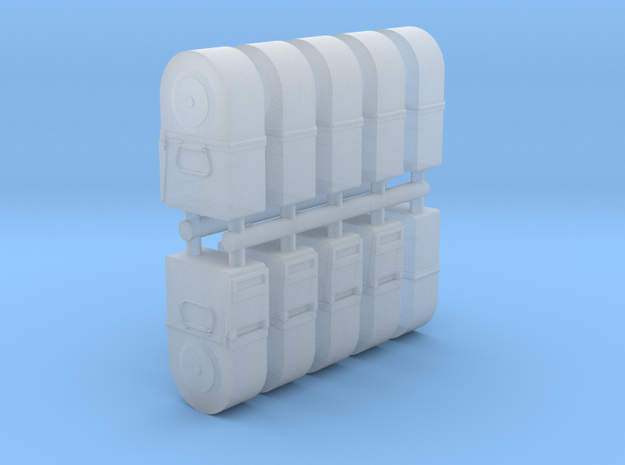 Ten 1/35 50 cal' Tombstone Ammo Cans in Smooth Fine Detail Plastic