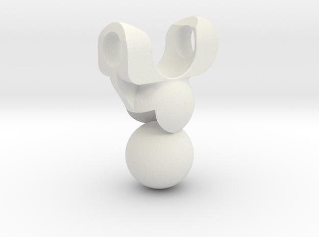 3M Double Ball Jointed Bone | V2 | CCBS in White Natural Versatile Plastic