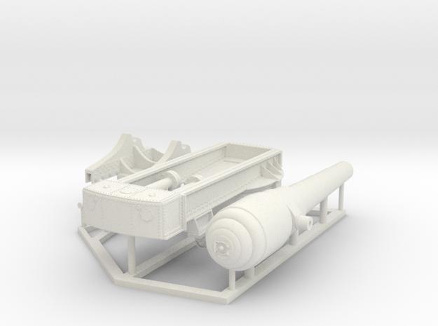 Armstrong 100-Ton Gun, 1/35 scale in White Natural Versatile Plastic