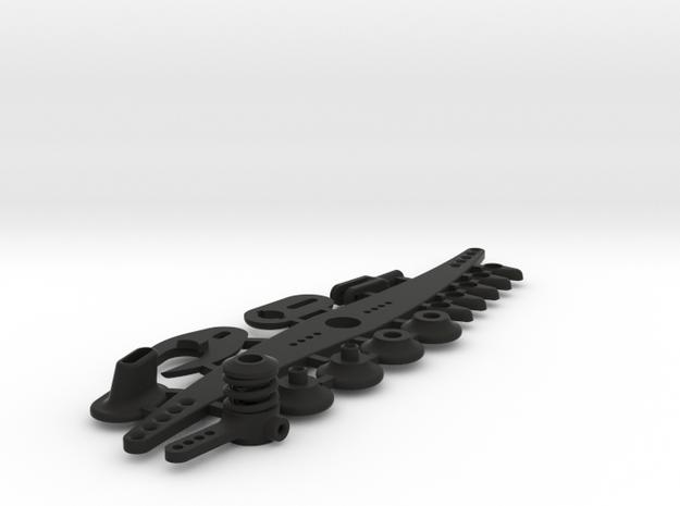 NMM boat parts without servoplate in Black Natural Versatile Plastic