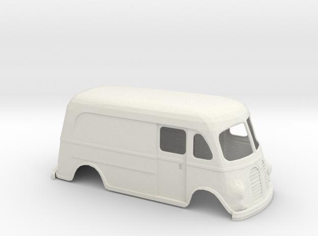 1/16 1950 International Metro Van Shell in White Natural Versatile Plastic