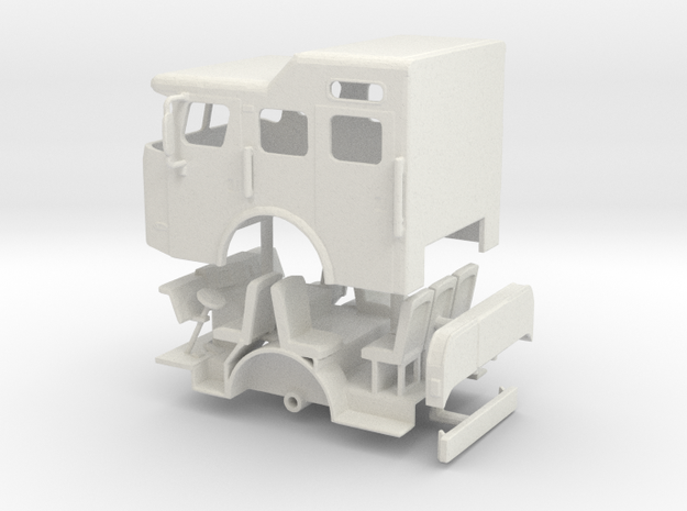 1/64 E-One Cyclone Raised Roof Cab in White Natural Versatile Plastic