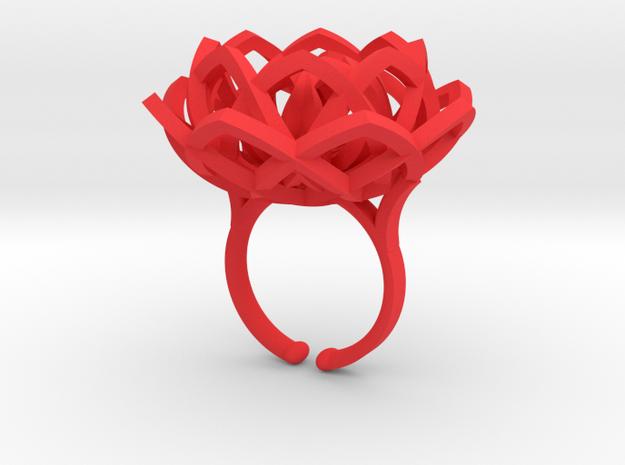Transcendence Lotus Ring, adjustable size Xlarge 3d printed