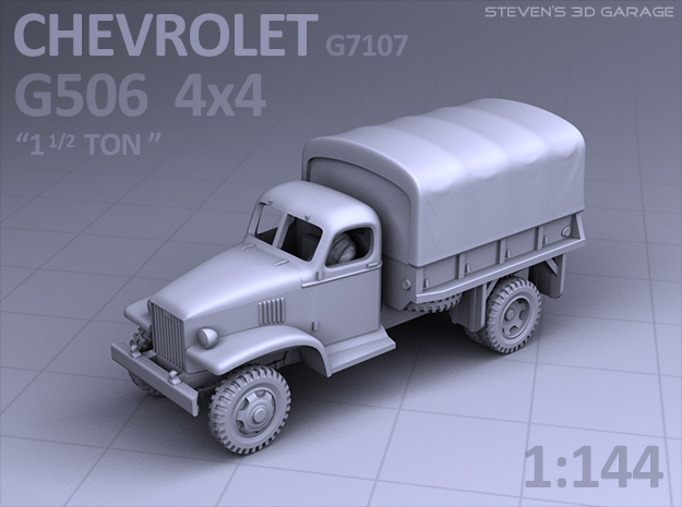 1/144 - Chevrolet G506 4x4 Truck (canvas) in Smooth Fine Detail Plastic