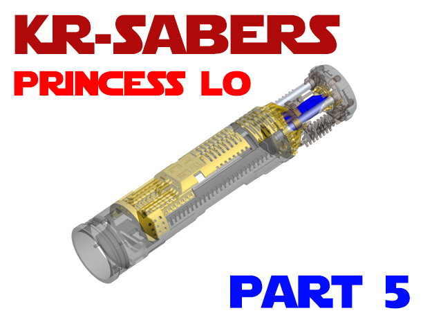 KR-Sabers Princess LO - Master Part5 in Smooth Fine Detail Plastic