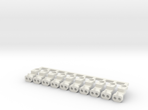 Magno-Electro Couplings for Tillig (Short x10) in White Natural Versatile Plastic