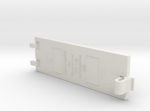 Apple Mac Plus Battery Cover in White Natural Versatile Plastic: Small