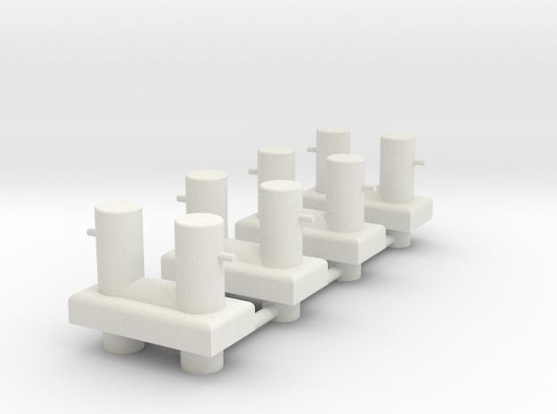 FCS 2610 - bollard aft (x4) in White Natural Versatile Plastic