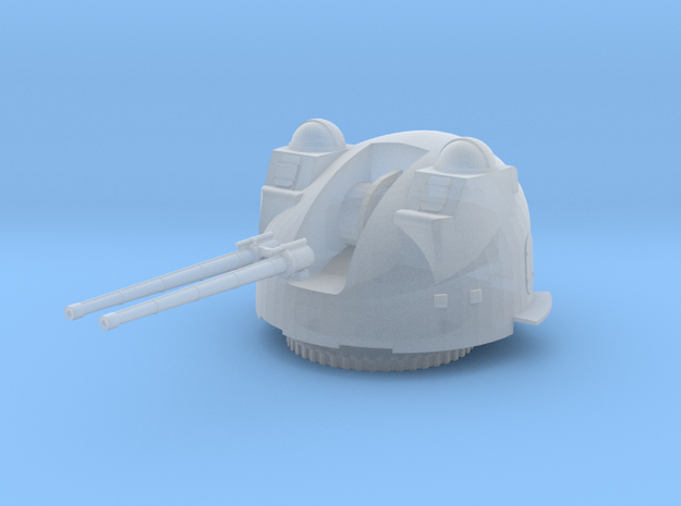 1:130 Scale Mk37 3 Inch/ 70 Caliber Naval Gun in Smooth Fine Detail Plastic