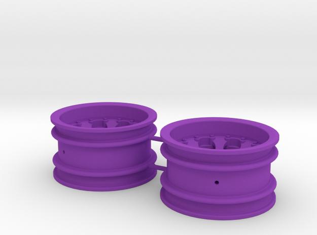 M-Chassis Wheels - NSU-TT Spiess Style - +6mm in Purple Processed Versatile Plastic