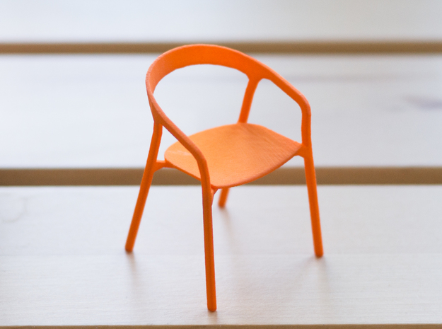She Said Chair - 6cm tall in Orange Strong & Flexible Polished