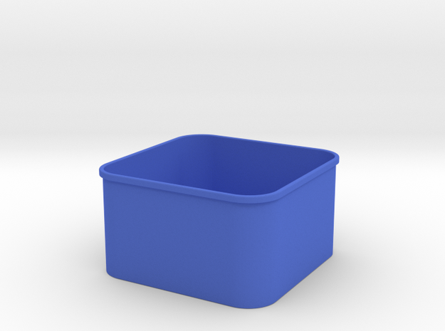3x3 Shapeways INSIDE in Blue Processed Versatile Plastic