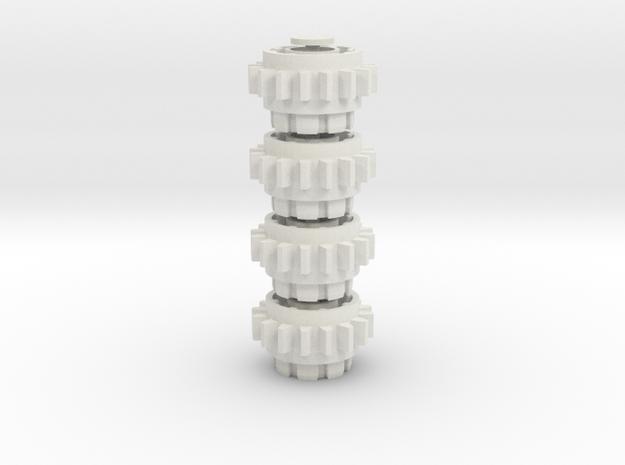 16z Adaptor gear 4 piece set in White Natural Versatile Plastic