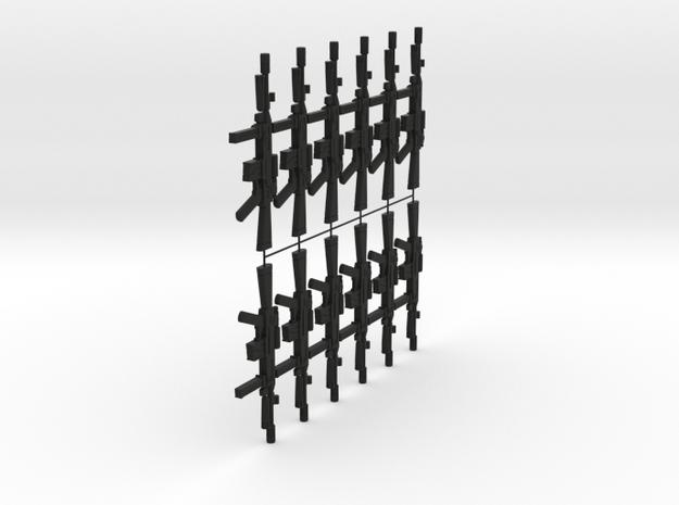 1/12 assault rifle grenade launcher x 12 units in Black Natural Versatile Plastic