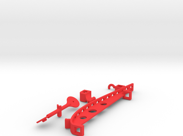 Wagomu plane 3D print parts only in Red Processed Versatile Plastic