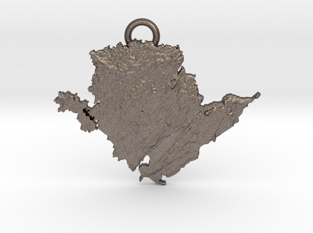 Anglesey Pendant,  in Polished Bronzed-Silver Steel