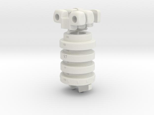 SD size Combi V1 in White Natural Versatile Plastic